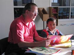 Graham Ellett Helps with Tawa Union Church Homework